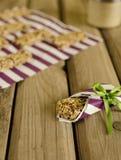 Oatmeal bars Stock Photo