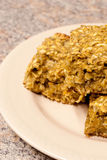 Oatmeal Bars, up close Stock Images