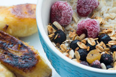 Oatmeal with berries Stock Photography
