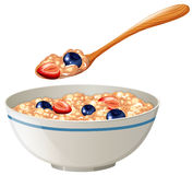 Oatmeal with berries in the bowl Royalty Free Stock Photography