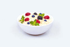 Oatmeal with berries Stock Photo