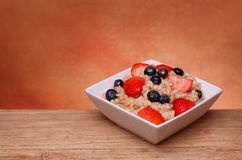 Oatmeal with berries Royalty Free Stock Photo