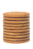 Oatmeal Biscuits Macro Isolated Stock Photo