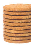 Oatmeal Biscuits Macro Isolated Stock Photography