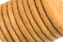 Oatmeal Biscuits Macro Isolated Royalty Free Stock Photos