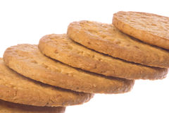 Oatmeal Biscuits Macro Isolated Royalty Free Stock Photo