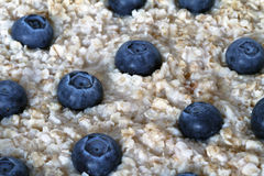 Oatmeal with blueberries Stock Images