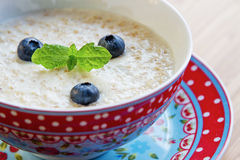 Oatmeal with blueberries Royalty Free Stock Photos
