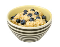 Oatmeal with blueberries in a bowl Stock Photography