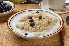 Oatmeal with blueberries Royalty Free Stock Photo