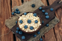 Oatmeal with blueberry Royalty Free Stock Image