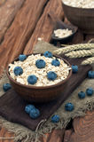 Oatmeal with blueberry Royalty Free Stock Photo