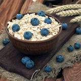 Oatmeal with blueberry Royalty Free Stock Photos