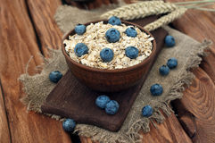 Oatmeal with blueberry Royalty Free Stock Images