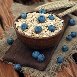Oatmeal with blueberry Stock Images