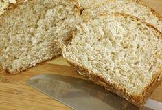 Oatmeal bochenka up Chlebowy zakończenie fotografia royalty free