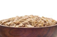 oatmeal Bol complètement d'avoine photographie stock libre de droits