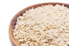 oatmeal Bol complètement d'avoine image libre de droits
