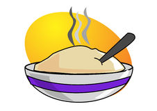Oatmeal in bowl. Ai file available Royalty Free Stock Photography