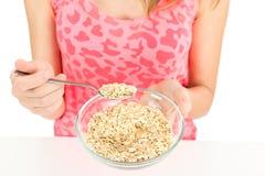 Oatmeal bowl Stock Image