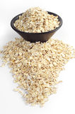 Oatmeal in bowl and near Stock Photo