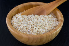 Oatmeal in bowl Royalty Free Stock Image