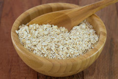 Oatmeal in bowl Stock Image