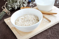 Oatmeal bowl on tray Stock Image