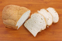 Oatmeal Bread Slices Cutting Board Royalty Free Stock Image