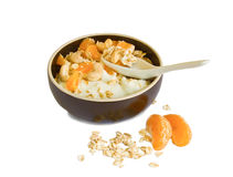 Oatmeal breakfast Stock Photography