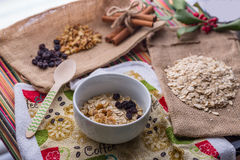 Oatmeal breakfast. Stock Images