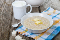 Oatmeal with butter Stock Photo