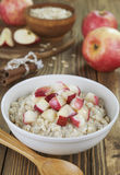 Oatmeal with caramelized apples Stock Image