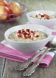 Oatmeal with caramelized apples Royalty Free Stock Photo
