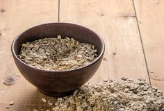 oatmeal in ceramic bowl royalty free stock photo