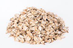Oatmeal cereals on white background Stock Image