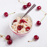 Oatmeal with cherries Royalty Free Stock Photos