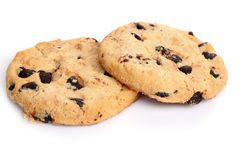 Oatmeal chocolate chip cookies Stock Photography