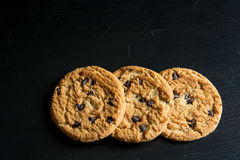 Oatmeal chocolate chip cookies. Royalty Free Stock Photography