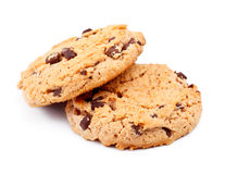 Oatmeal Chocolate Chip Cookies Royalty Free Stock Photos