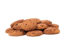 Oatmeal chocolate chip cookies Stock Images