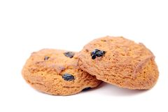 Oatmeal chocolate chip cookies. Stock Photography