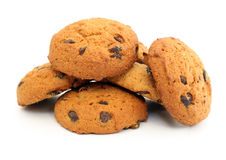 Oatmeal chocolate chip cookies Royalty Free Stock Images
