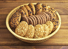 Oatmeal and chocolate cookies Royalty Free Stock Photos