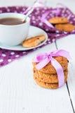 Oatmeal ciastka z czekoladą Obrazy Stock