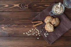 Oatmeal ciastka, zakończenie Fotografia Stock