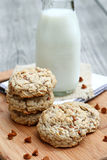Oatmeal Cinnamon Chip Cookies Royalty Free Stock Photography