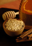 Oatmeal, Cinnamon and Honey. Honey, oats and cinnamon can recommend bath, spa & aromatherapy, or food & nutrition Stock Images