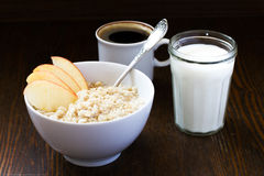 Oatmeal and coffee Stock Photos