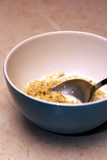 Oatmeal com leite Foto de Stock Royalty Free